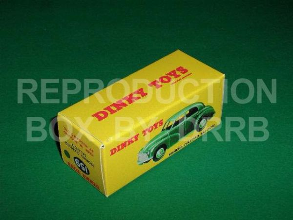 Dinky #159 Morris Oxford Saloon - Reproduction Box ( Green )
